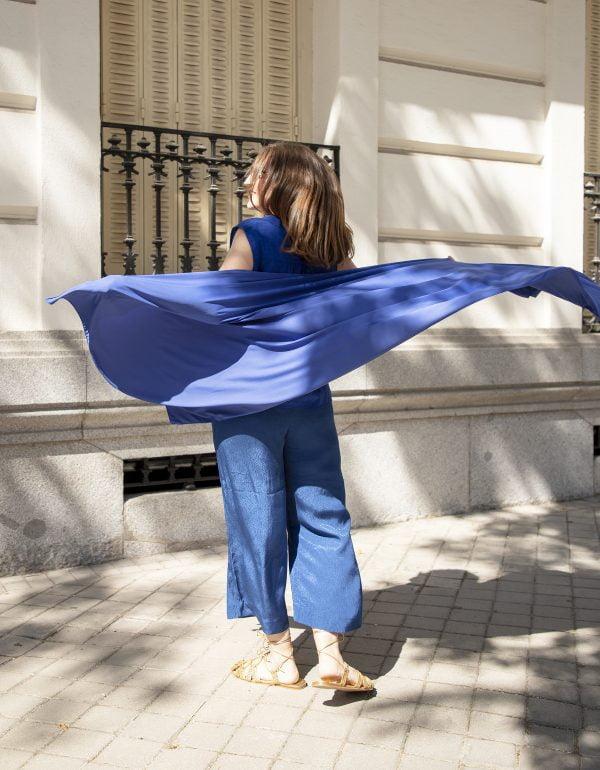 pañuelo UPF50+ proteccion solar azul