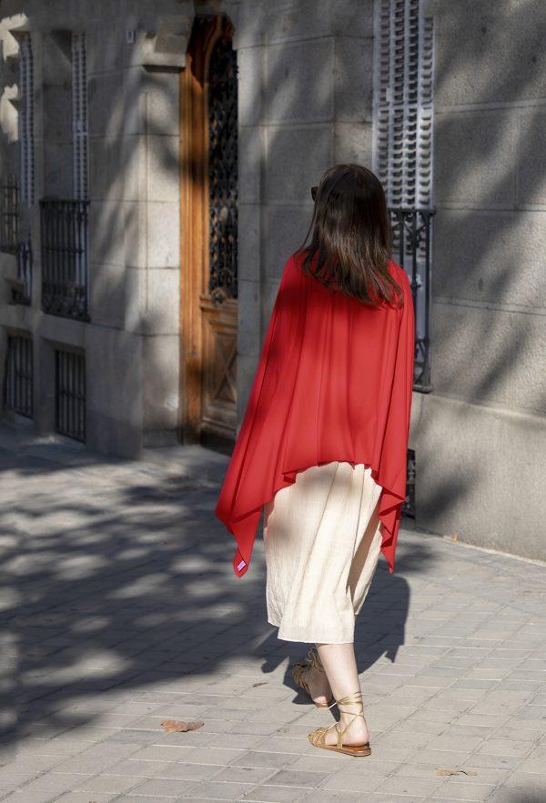 Pañuelo-pareo UPF50+ rojo
