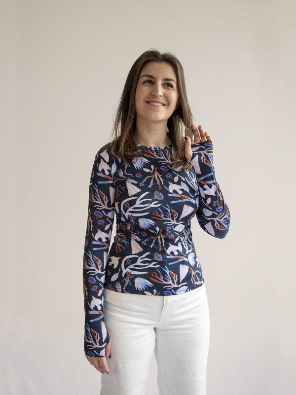 Camiseta de proteccion solar UPF50+ mujer